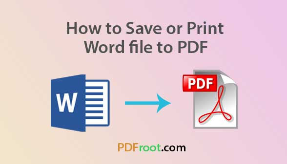 how to save word to pdf - pdfroot